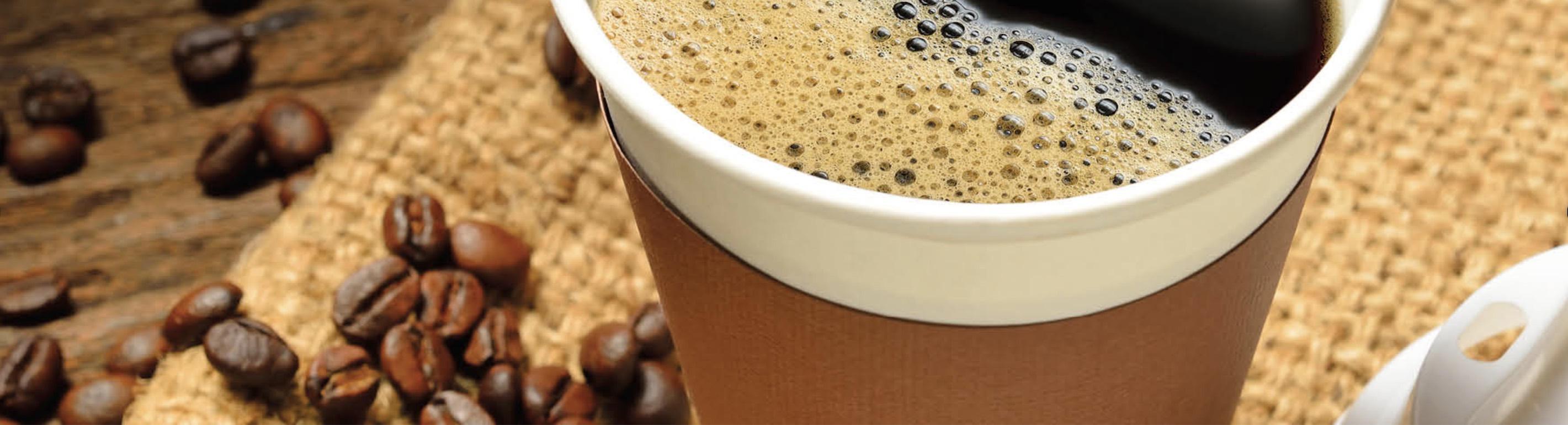 customer's coffee cup