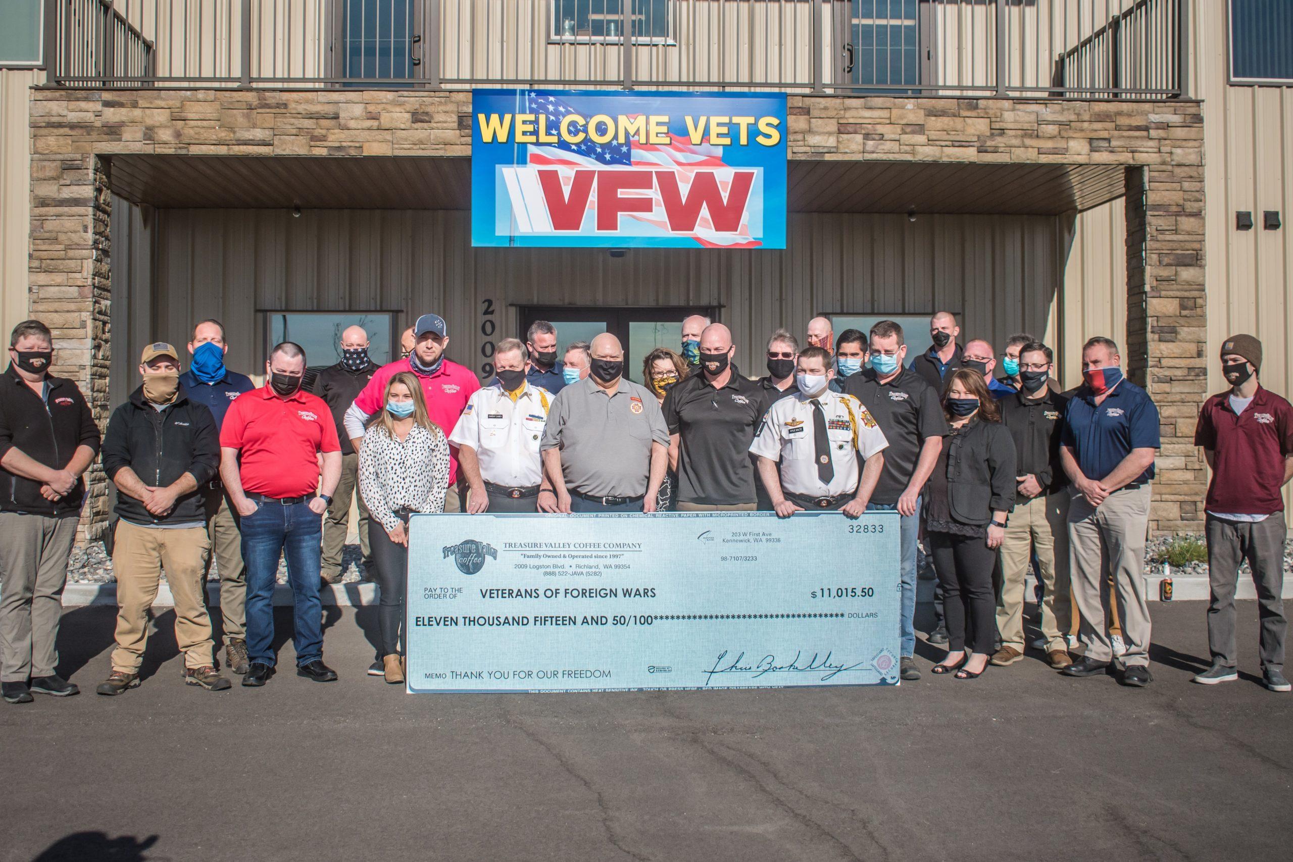 Treasure Valley Coffee Donates to Local VFW